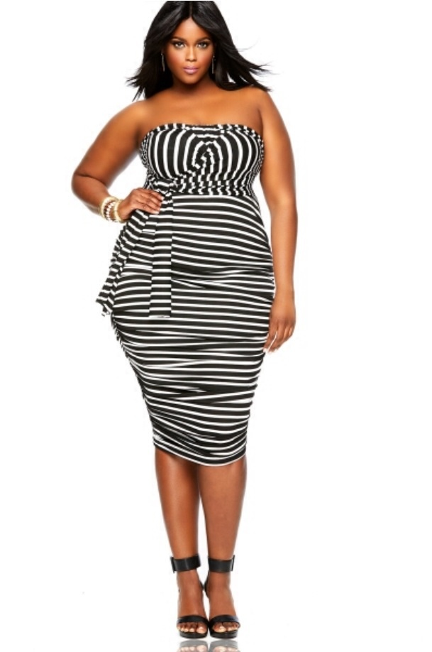 14539a9294a Monifc Plus size Ruched Convertible Dress Stripe - Bub-Pals Australia