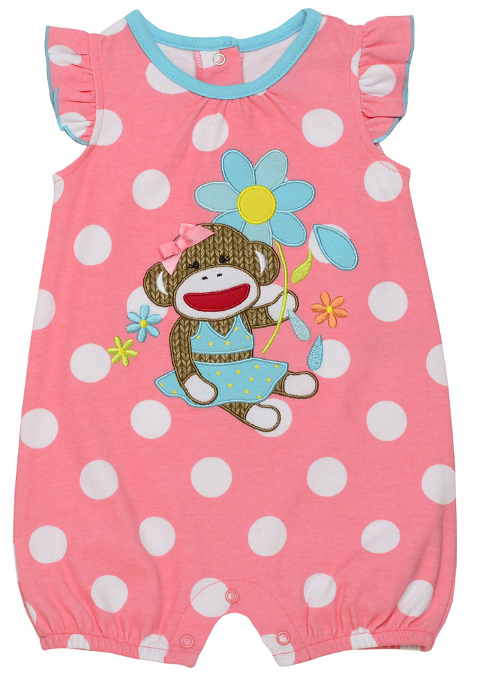 baby outfit apllique monkey