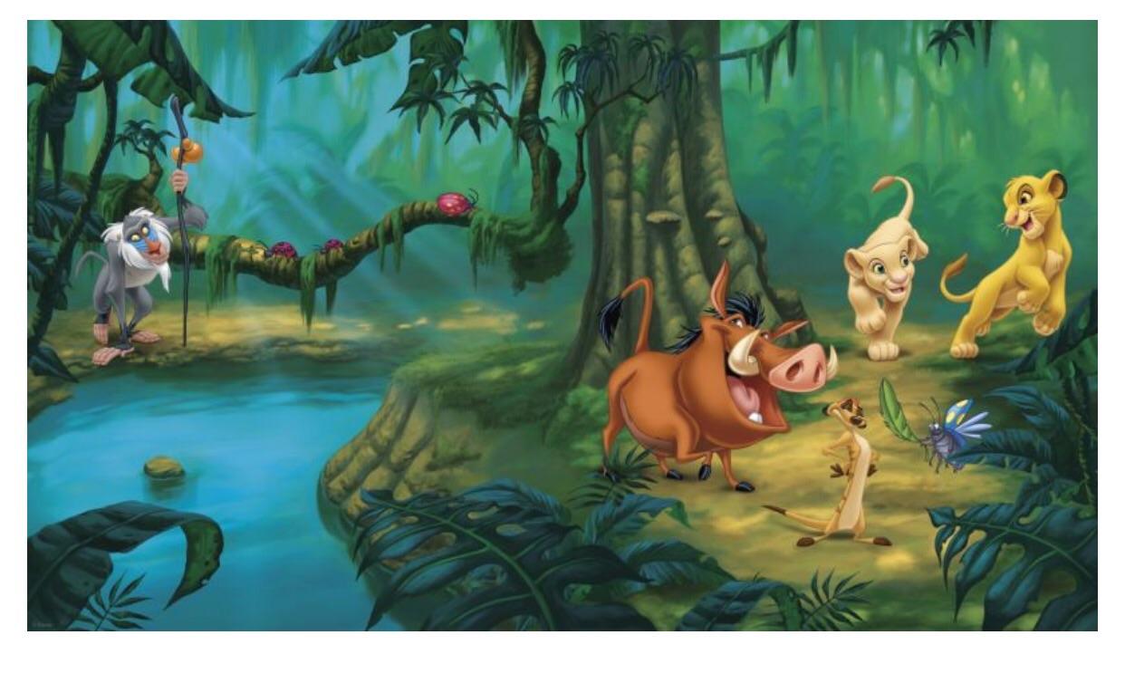 Bon Lion King Prepasted XL Sized Wallpaper Mural