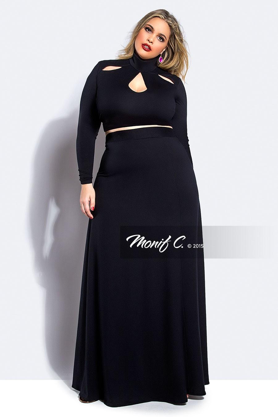 Black Maxi Skirt With Crop Top